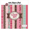 "Giddy Up Girl Double-Sided Cardstock Pad 6""X6"" 24/Sheets-"