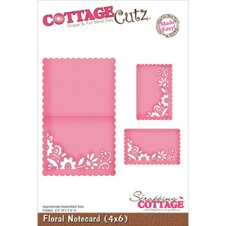 "CottageCutz Die 4""X6""-Floral Notecard Made Easy"