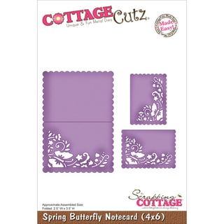 "CottageCutz Die 4""X6""-Spring Butterfly Notecard Made Easy"