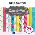 "Here & Now Double-Sided Cardstock Pad 6""X6"" 24/Sheets-"