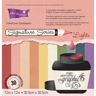 "Signature Series Graphic 45 Cardstock Pad 12""X12"" 30/Pkg-Light Colors"
