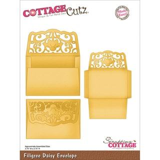 CottageCutz Die-Filigree Daisy Envelope Made Easy