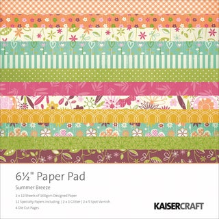 Summer Breeze Paper Pad 6.5X6.5in