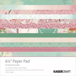 Enchanted Garden Paper Pad 6.5X6.5in