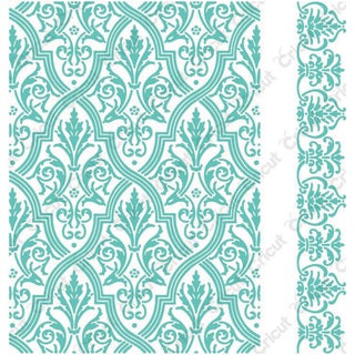 Cuttlebug 5X7in Embossing Folder/Border Set-Anna Griffin Pirouette