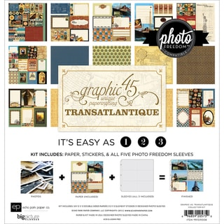 Photo Freedom Transatlantique Collection Kit 12X12in