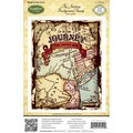 "JustRite Stampers Cling Background Stamp 4-1/2""X5-3/4""-The Journey"