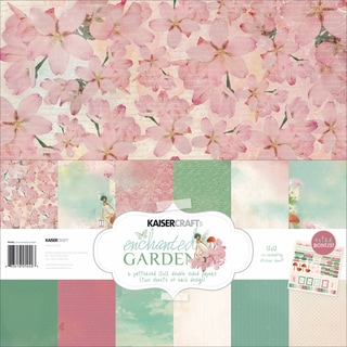 "Enchanted Garden Paper Pack 12""X12in"