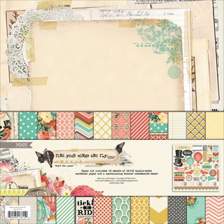 Find Your Wings & Fly Paper & Accessories Kit 12X12in-Sky's The Limit