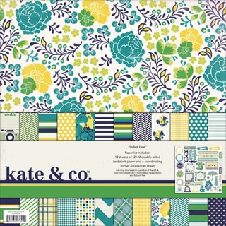Kate & Co. Paper & Accessories Kit 12X12in-Oxford Lane