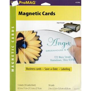 ProMag Magnetic Business Cards- 5 Sheets/Pkg