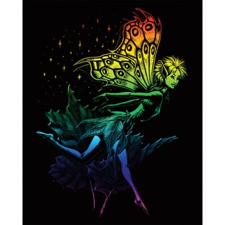 "Rainbow Foil Engraving Art Kit 8""X10""-Dancing Fairy"