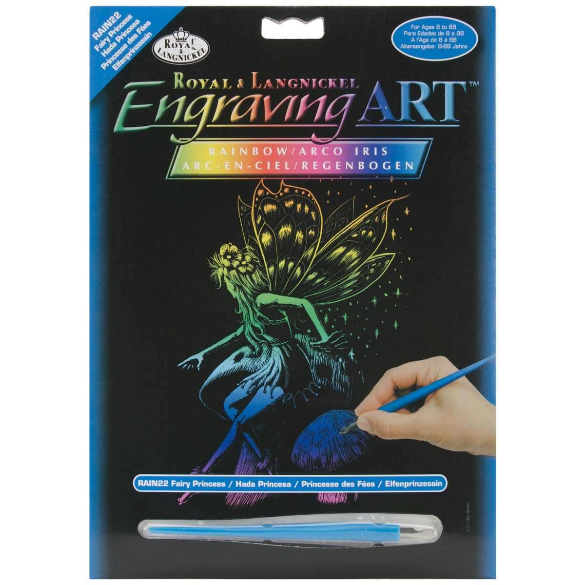 "Royal Brush Rainbow Foil Engraving Art Kit 8""X10""-Fairy Princess at Sears.com"