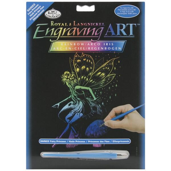 "Rainbow Foil Engraving Art Kit 8""X10""-Fairy Princess"