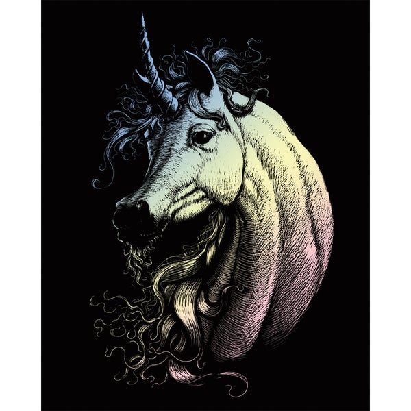 "Holographic Foil Engraving Art Kit 8""X10""-Proud Unicorn"