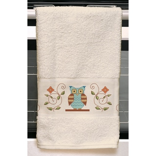 """Owl Kitchen Towel Stamped Embroidery Kit-24""""X16"""""""