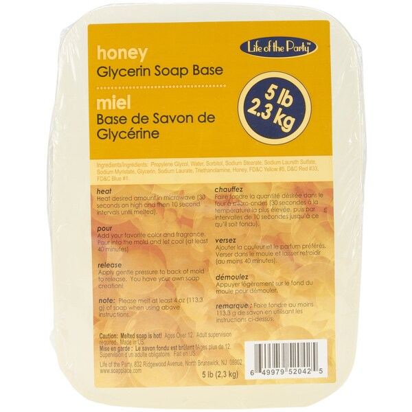 Glycerin Soap Base 5 Pounds-Honey