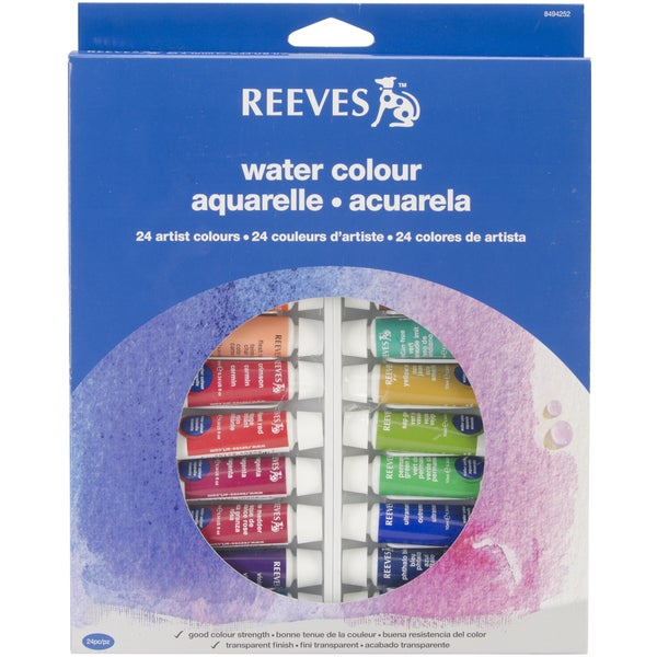 Reeves Watercolor Paint 10ml 24/Pkg-Assorted Colors