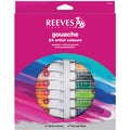 Reeves Gouache Watercolor 10ml 24/Pkg-Assorted Colors
