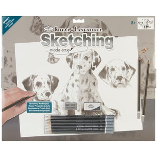 Royal Brush Sketching Made Easy Large Kit-Dalmatians