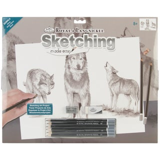 Royal Brush Sketching Made Easy Large Kit-Wolves