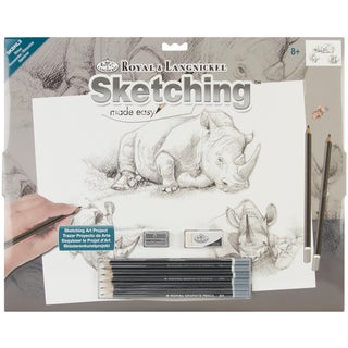 Royal Brush Sketching Made Easy Large Kit-Rhinos