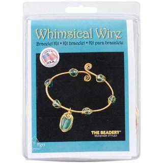 Whimsical Wire Bracelet Kit-Turquoise