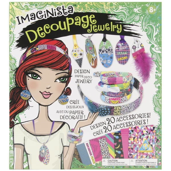 Imaginista Decoupage Jewelry Kit-