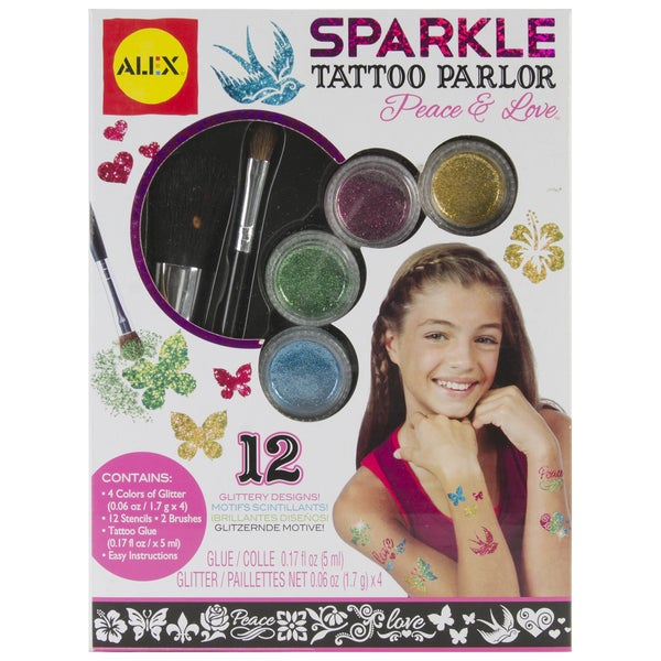 Sparkle Tattoo Peace & Love Kit