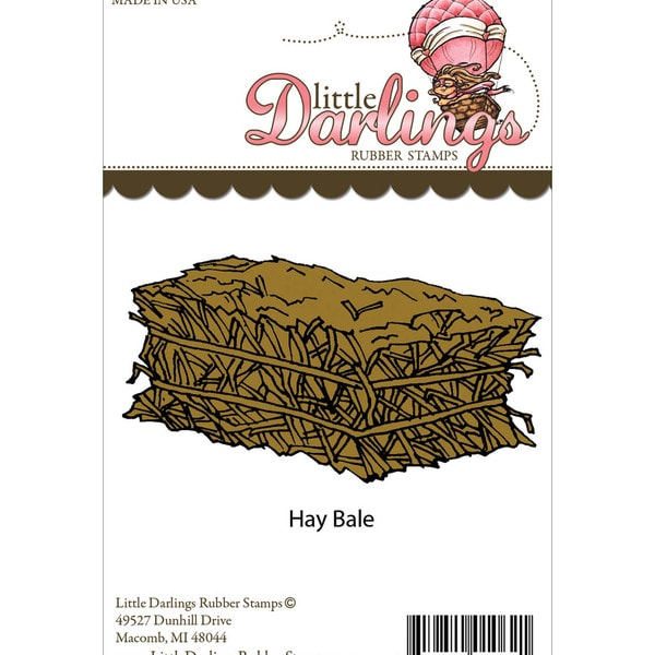 Little Darlings Unmounted Rubber Stamp-Hay Bale