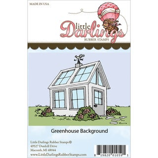Little Darlings Unmounted Rubber Stamp-Greenhouse