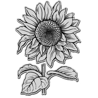 Stampendous Jumbo Cling Rubber Stamp-Sunflower