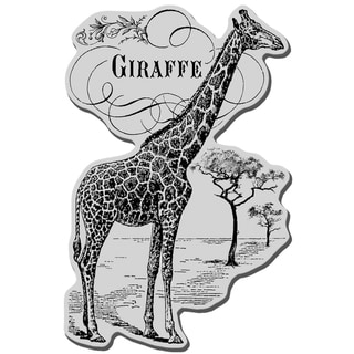 Stampendous Cling Rubber Stamp-Giraffe Savanna
