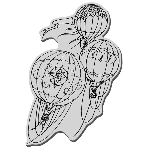 Stampendous Cling Rubber Stamp-Hot Air Trio