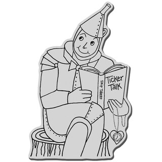 Stampendous Cling Rubber Stamp-Tin Man Reader