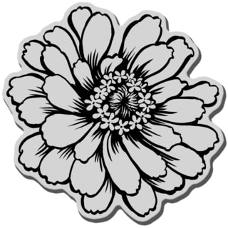 Stampendous Cling Rubber Stamp-Zinnia