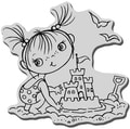 Stampendous Cling Rubber Stamp-Sandcastle Kiddo