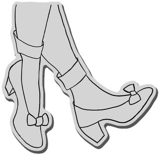 Stampendous Cling Rubber Stamp-Amazing Shoes