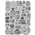 Stampendous Cling Rubber Stamp-Royal Insignias