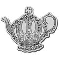 Stampendous Cling Rubber Stamp-Queen Teapot