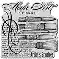 Stampendous Cling Rubber Stamp-Artist Elements