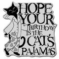 Stampendous Cling Rubber Stamp-Pajama Cat