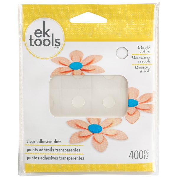 Clear Adhesive Dots-400/Pkg
