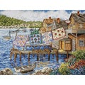 Dockside Quilts Counted Cross Stitch Kit-12X16in 14 Count