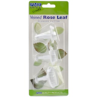 Plunger Cutter Set 3 Pieces-Veined Rose Leaf