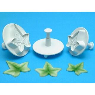 Plunger 3-piece Veined Ivy Leaf Cutter Set
