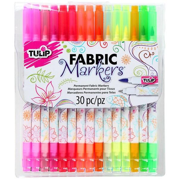 Tulip Dual Tip Fabric Markers 30/Pkg-