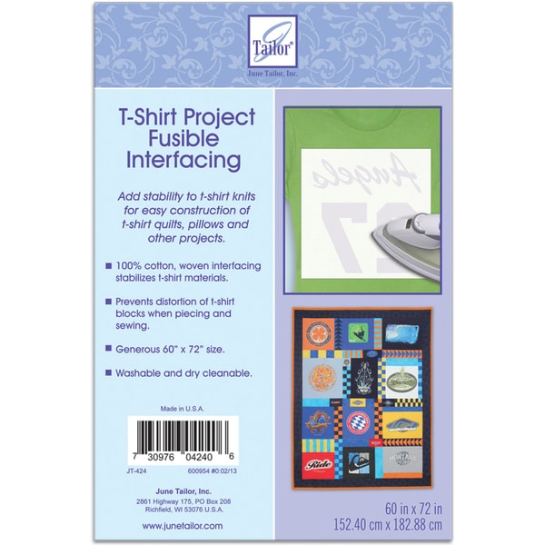 "T-Shirt Project Fusible Interfacing 60""X72""-White"