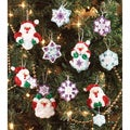Santa's Snowflake Ornaments Felt Applique Kit-Set Of 20