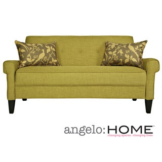 angelo:HOME Ennis Green Bamboo Twill Sofa